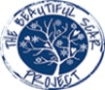 Logo of The Beautiful Scar Project. A blossomed tree in a circle.